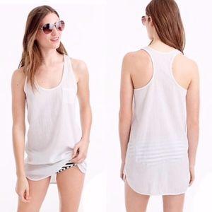 J Crew gauzy tunic beach mini dress cover up S
